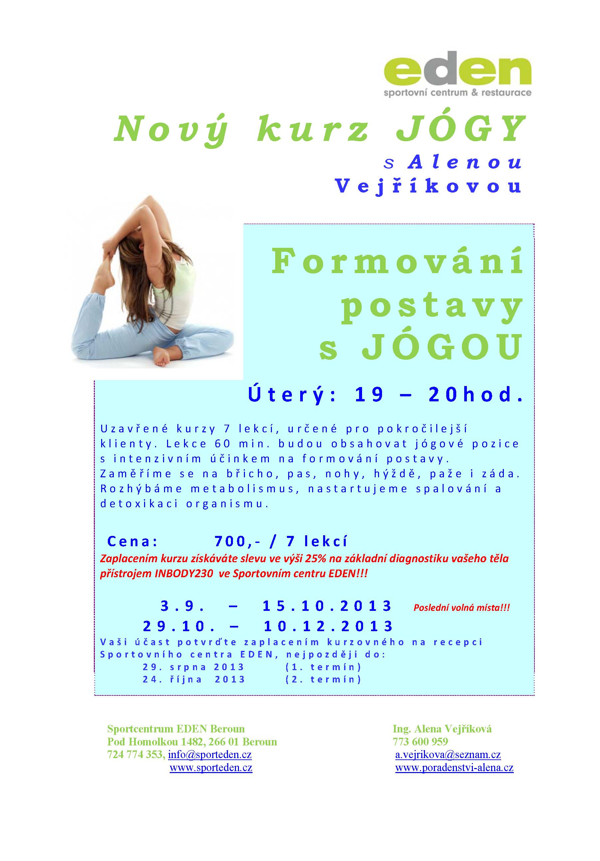 JÓGA_kurz Formování_leták