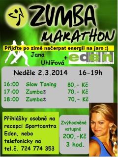 Zumba Maraton Eden březen 2014