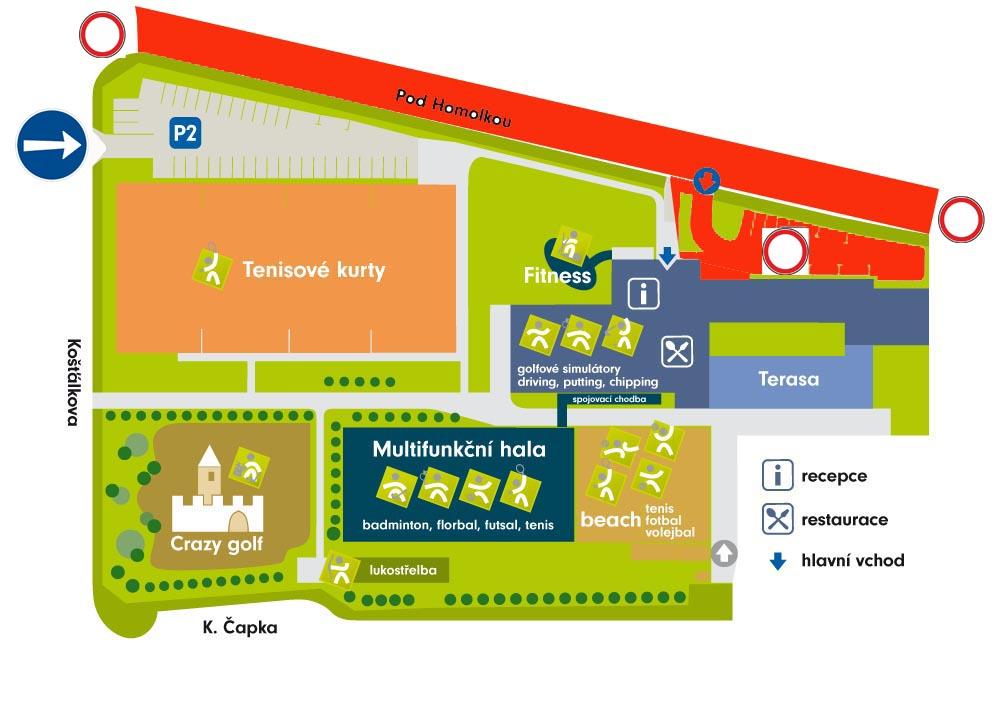 Mapa prijezd rekonstrukce silnice