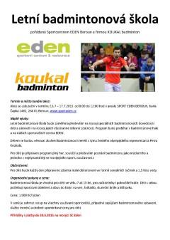 badminton EDEN letní škola 2015